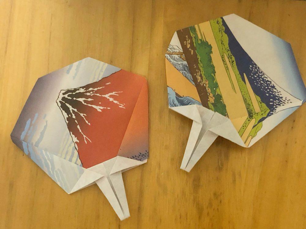 折り紙 手作り うちわ 作り方