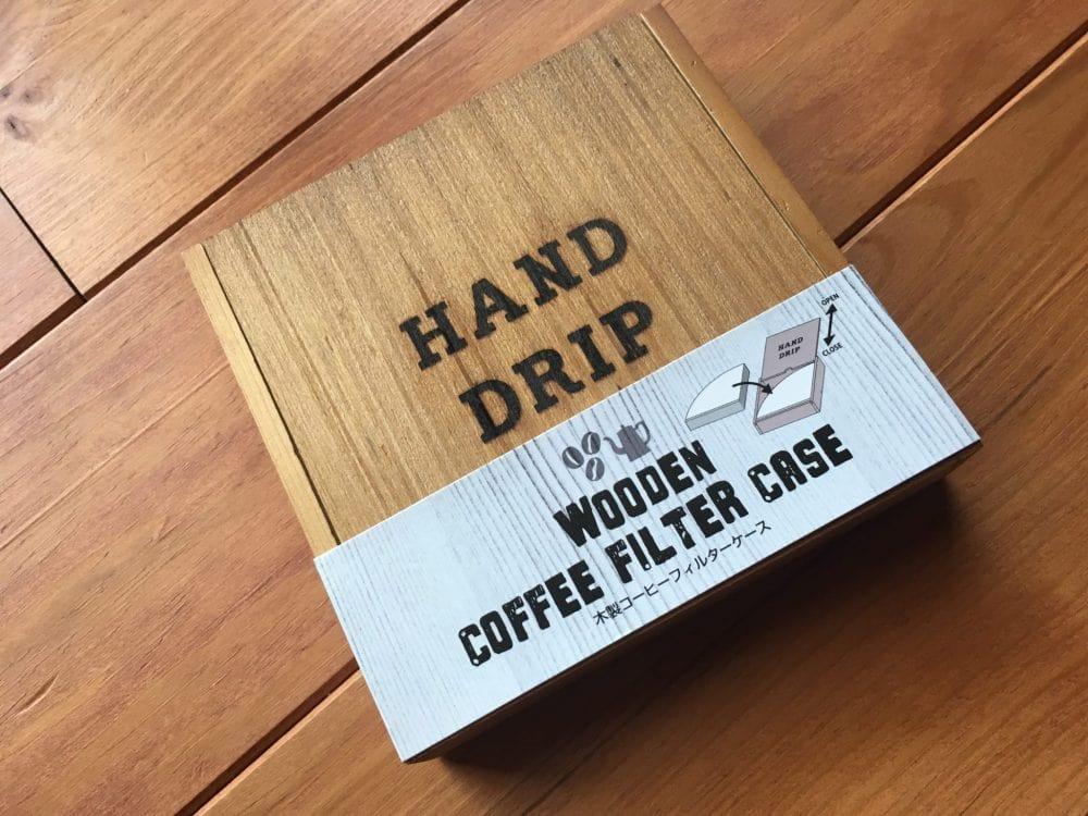 セリア 木製コーヒーフィルターケース