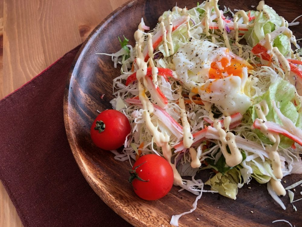 温泉卵 サラダ