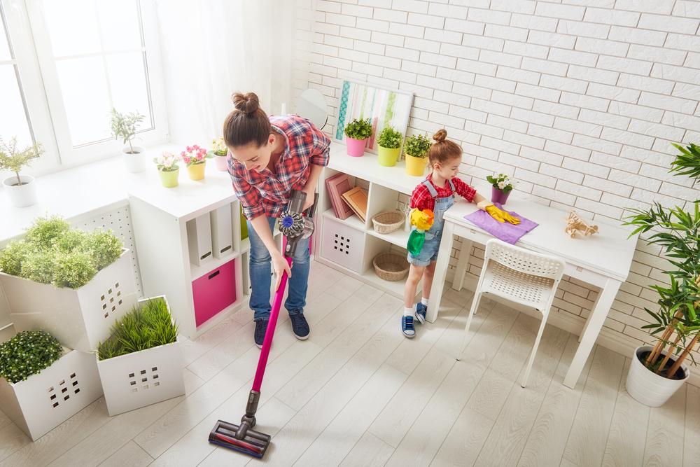 親子 掃除