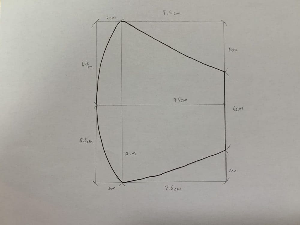 立体マスク 作り方 型紙