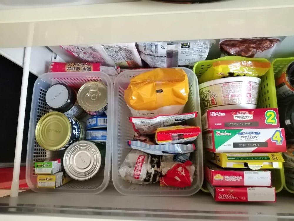 キッチン収納 缶詰