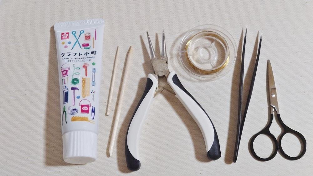 粘土細工 ピアス作りに使う道具